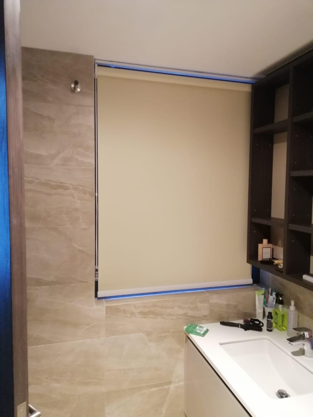 Bathroom Roller Blinds Installation Curtains House Singapore Condo – Tanjong Pagar