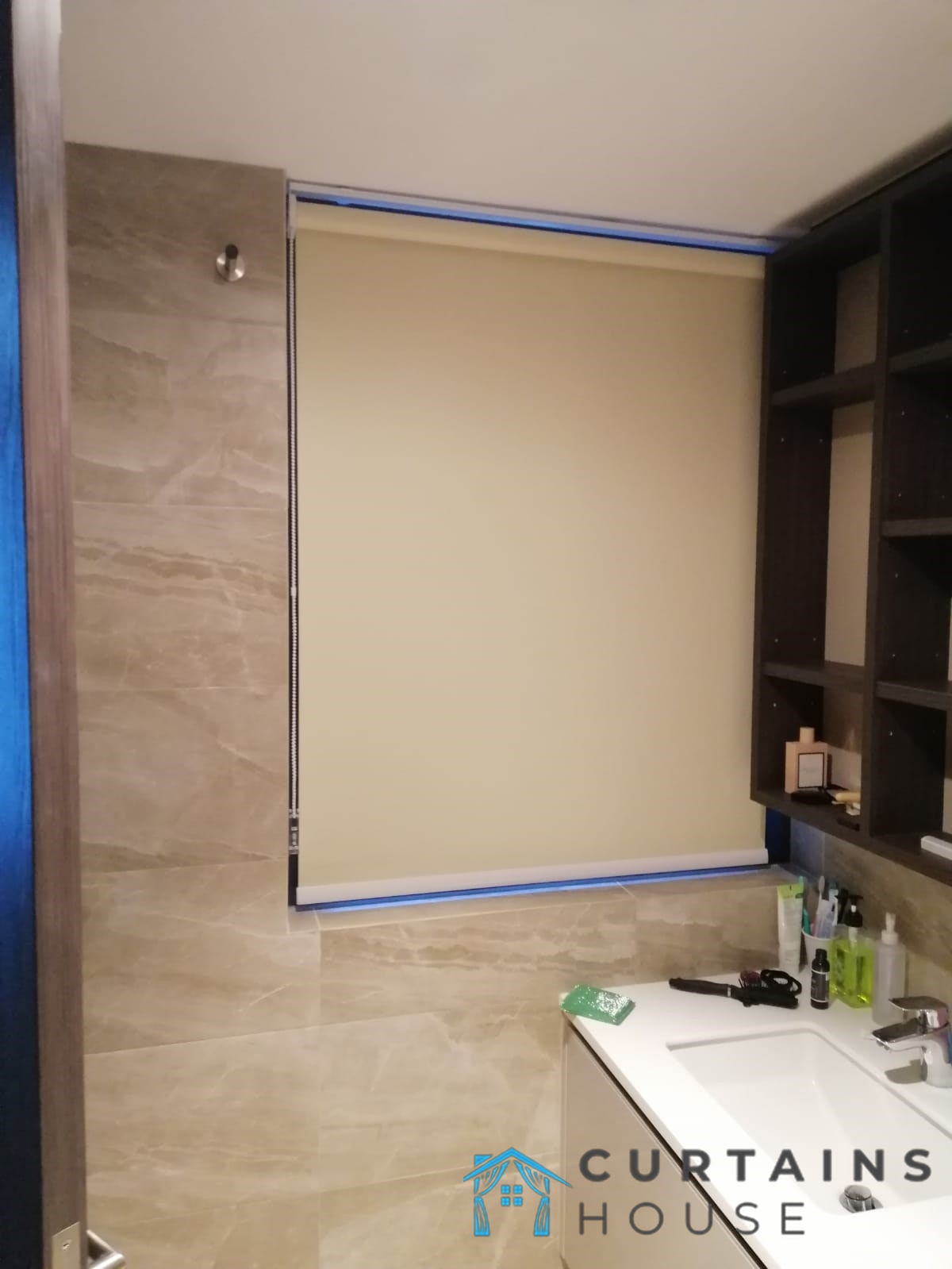 Bathroom Roller Blinds Installation Curtains House Singapore Condo – Tanjong Pagar