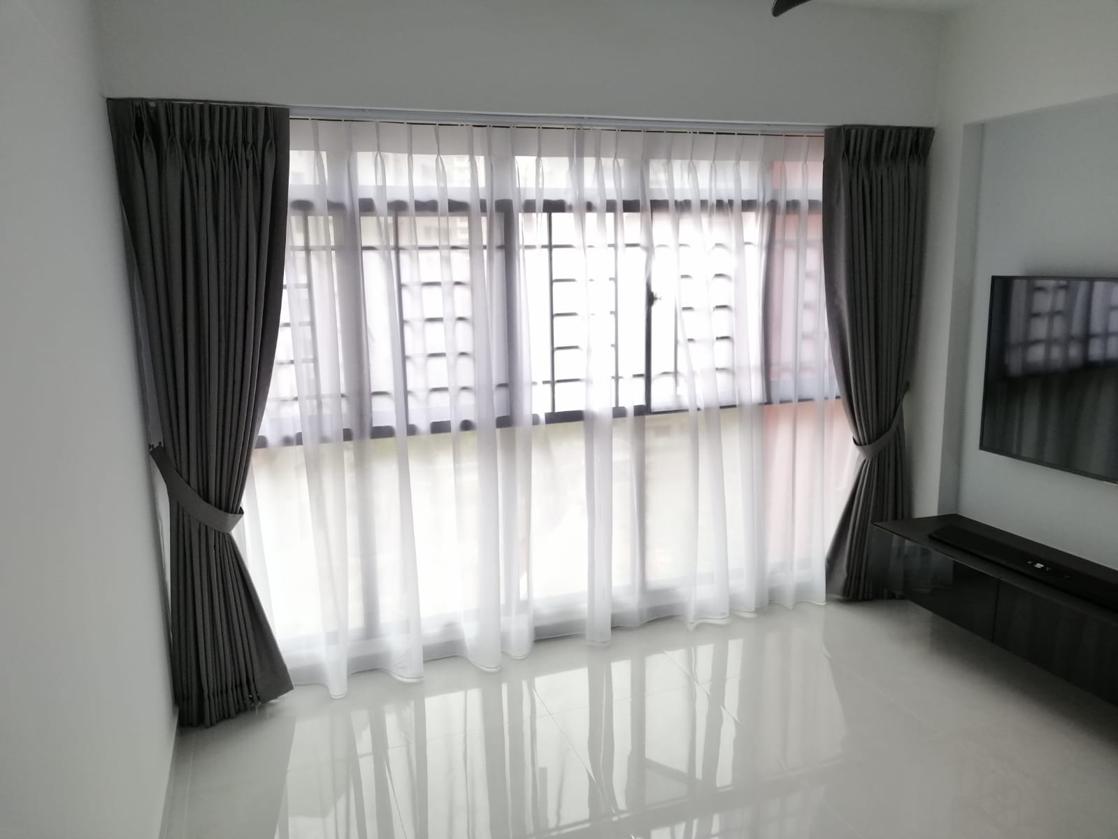 Day And Night Living Room Curtains Installation Curtains House Singapore BTO – Punggol