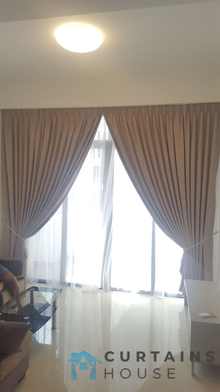 Day And Night Curtain Living Room Panel Pair Curtains House Singapore Condo- Lavender