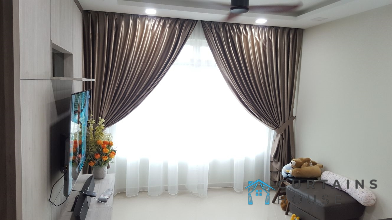 Day And Night Panel Pair Curtains Bedroom Curtains House Singapore HDB – Kallang