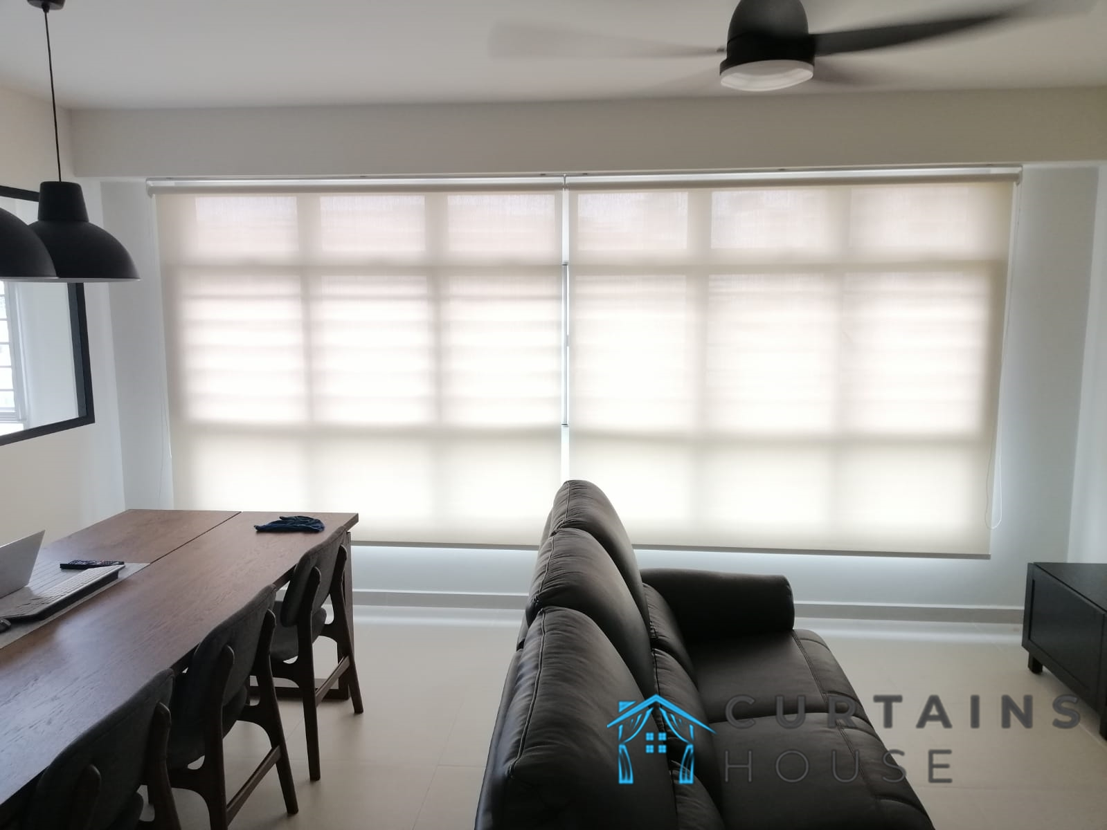 Sheer Roller Blinds Living Room Dining Room Curtains House Singapore HDB – Tiong Bahru