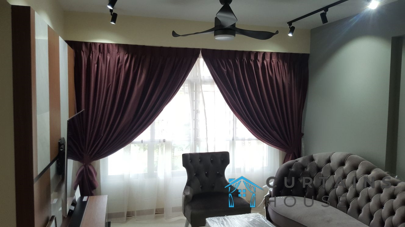 Day Curtain and Blackout Curtains Living Room Panel Pair Curtains House Singapore HDB – Pasir Ris