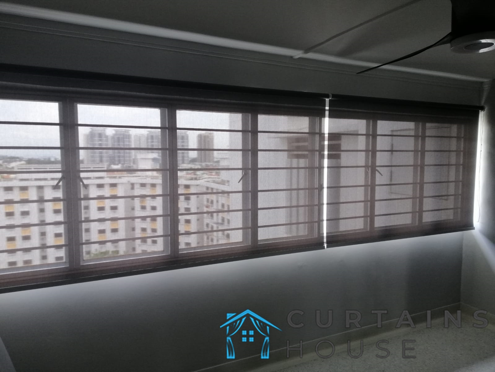 Dim Out Roller Blinds Living Room Blinds Installation Curtains House Singapore HDB – Bedok